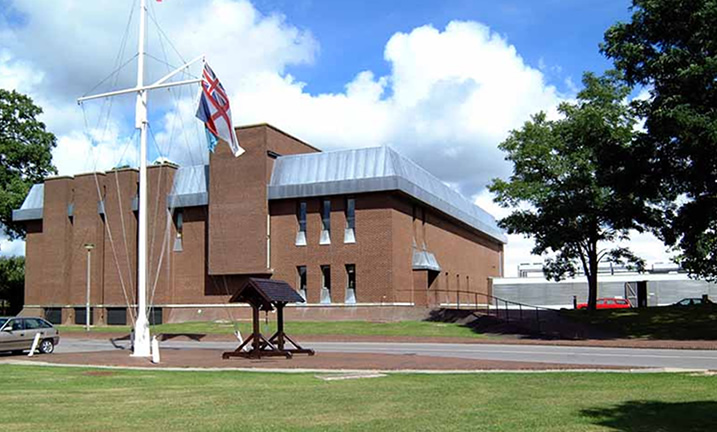Cook Building at MoD Southwick Park (Formerly HMS Dryad)