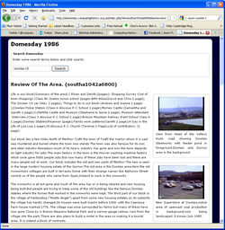 Domesday Articles on the Web