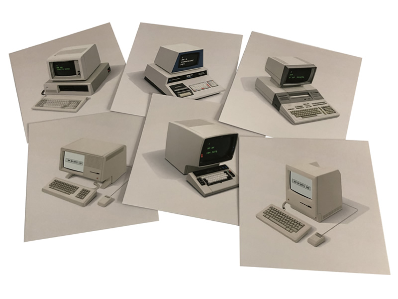 Icons of Beige Computer Postcards