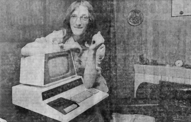 Thomas Turnbull with his Commodore PET
