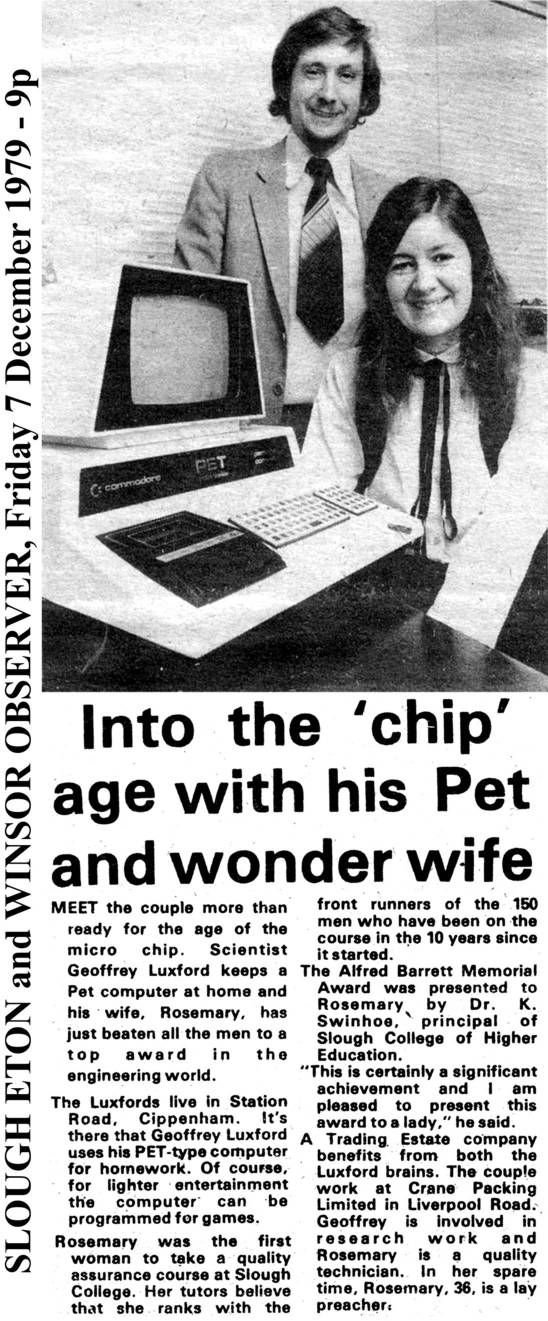 Commodore PET article