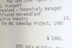 Unformatted Data from the BBC Domesday Discs
