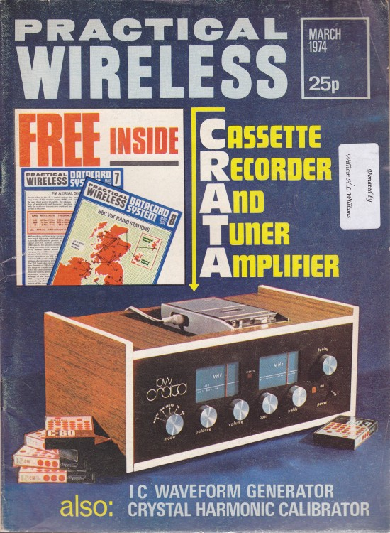 Scan of Document: Practical Wireless - March 1974