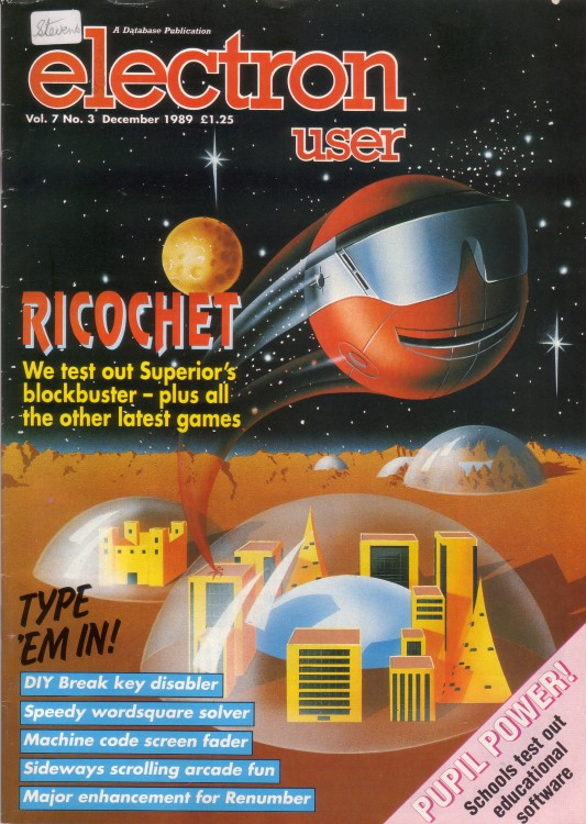 Scan of Document: Electron User - December 1989