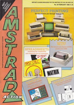 Scan of Document: Amstrad Action February 1988