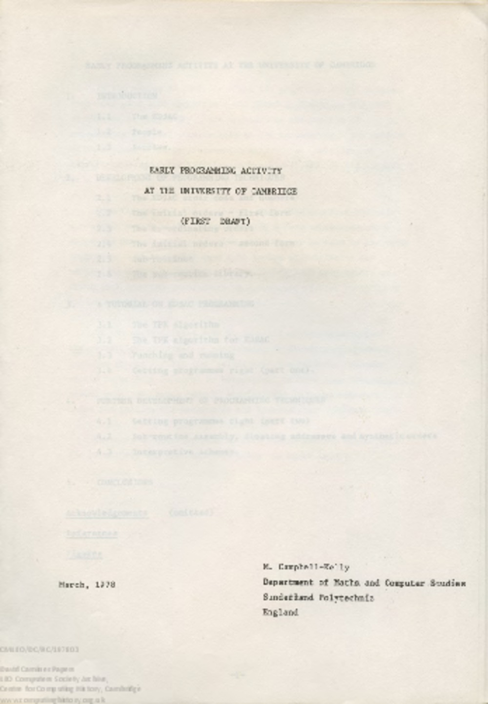 Article: 58515 Campbell-Kelly, Early Programming Activity at the University of Cambridge (Mar 1978)