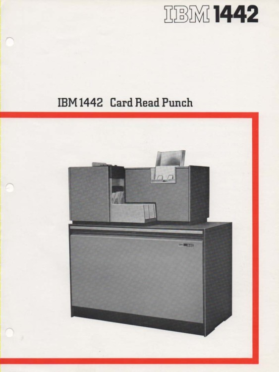 Scan of Document: IBM 1442 Card Read Punch