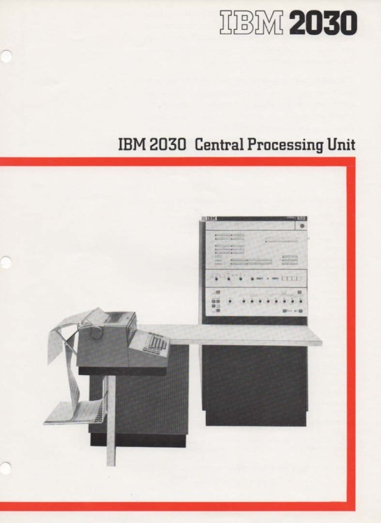 Scan of Document: IBM 2030 Central Processing Unit