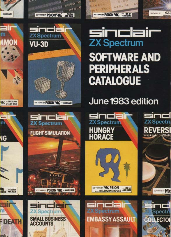 Scan of Document: ZX Spectrum Software & Peripherals catalogue 1983