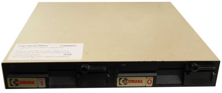 Scan of Document: Cumana Flat Dual Disk Drive Non Switchable