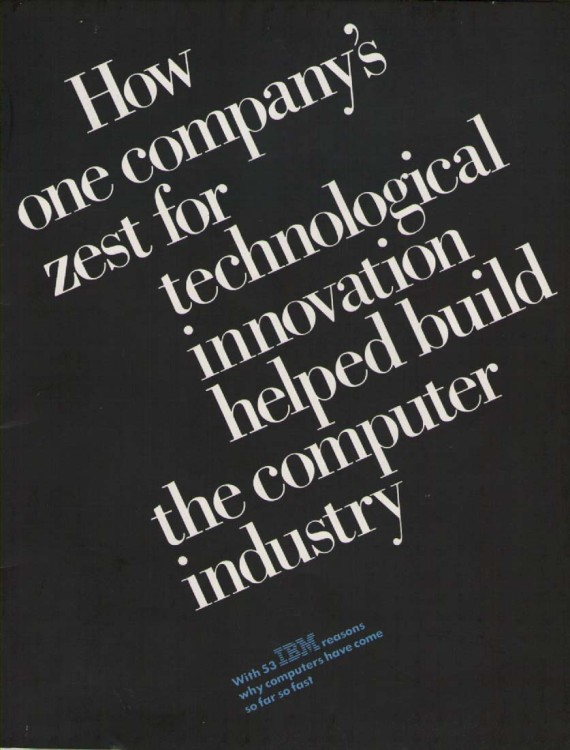 Scan of Document: IBM How one company's zest for technological innovation helped