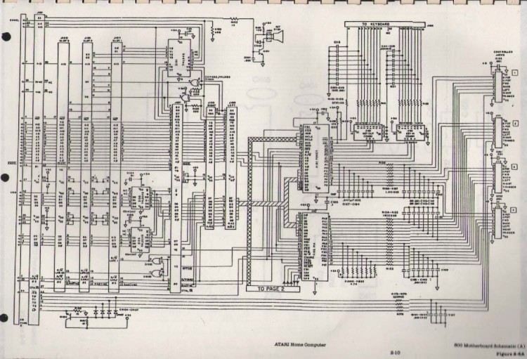 Scan of Document: Atari 400/800 circuit digrams