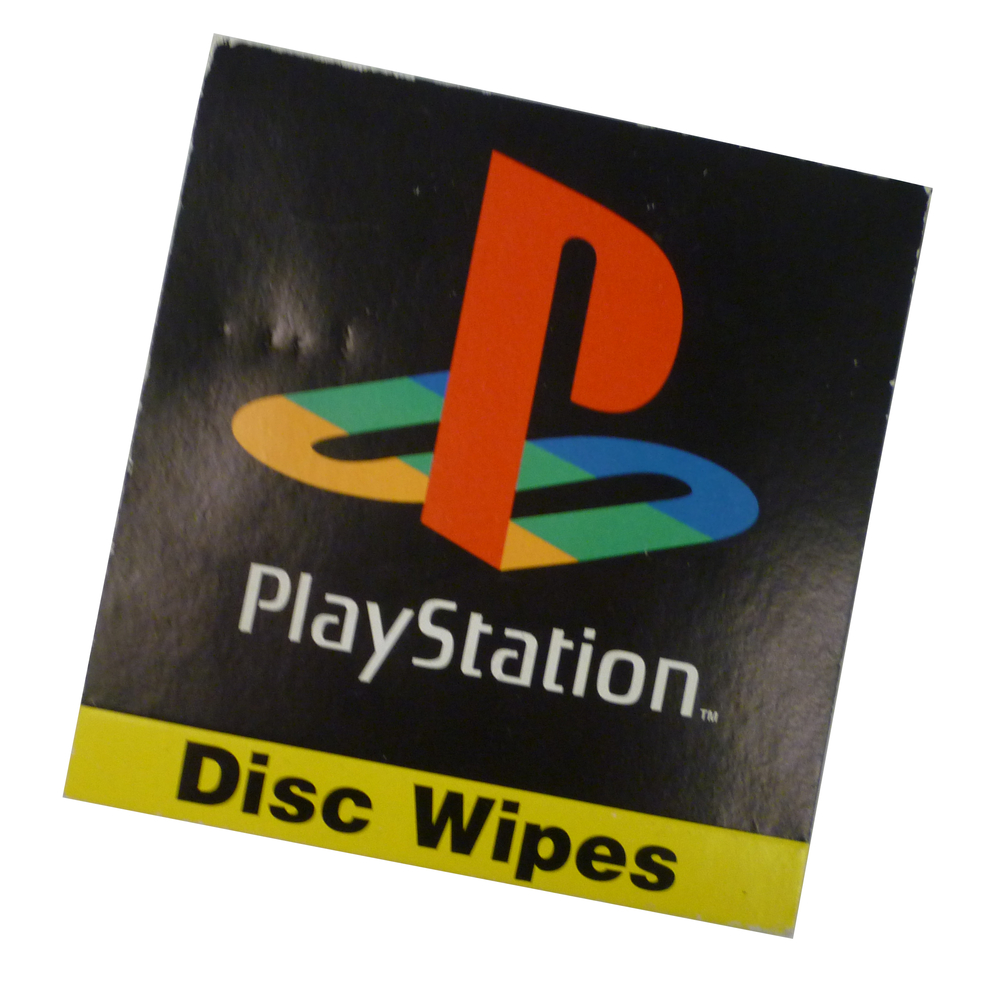 Scan of Document: Sony Playstation Disc Wipes