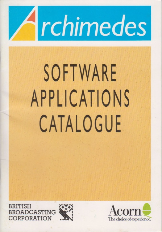 Scan of Document: Acorn Archimedes - Software Applications Catalogue