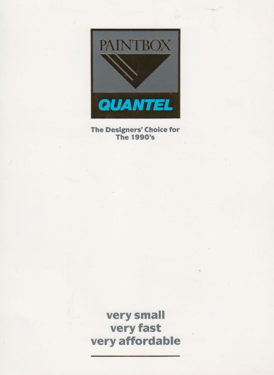 Scan of Document: PaintBox - Quantel - The Designers Choice for the 1990s