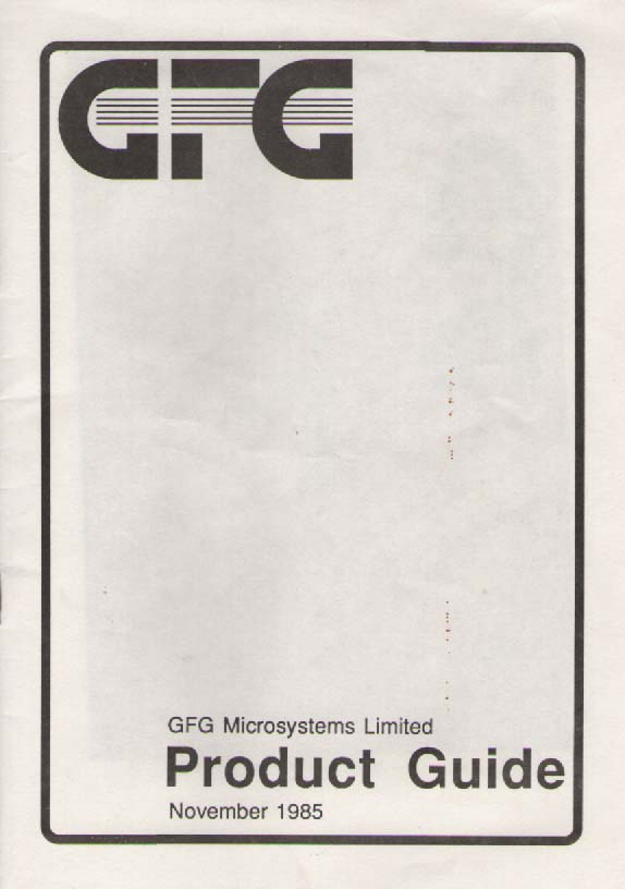 Scan of Document: GFG Product Guide & Price List