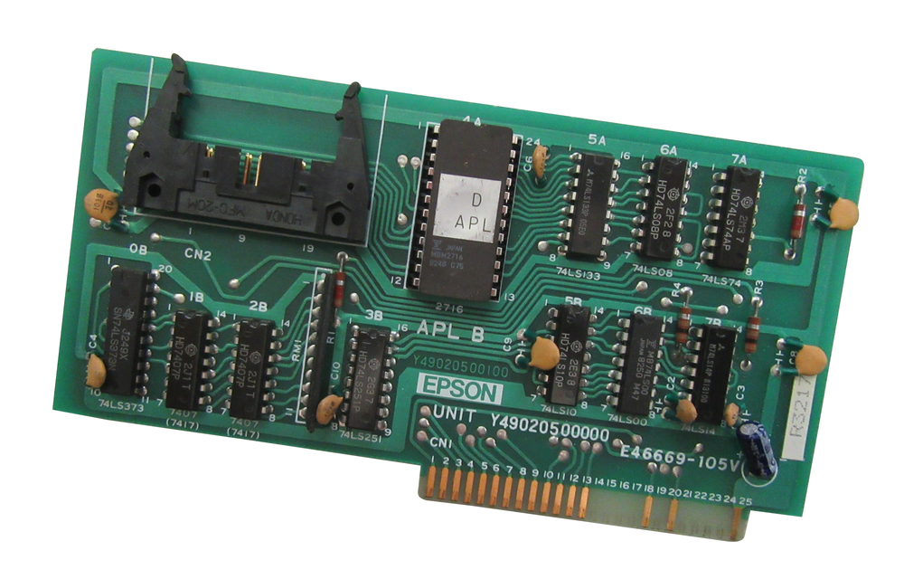 Scan of Document: Epson APL Parallel Printer Card