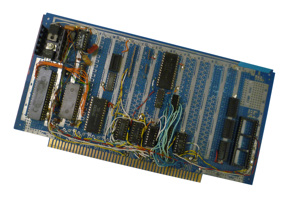 Scan of Document: Homemade S-100 board