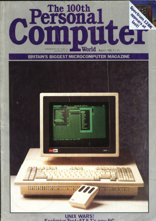 Scan of Document: Personal Computer World - April 1986
