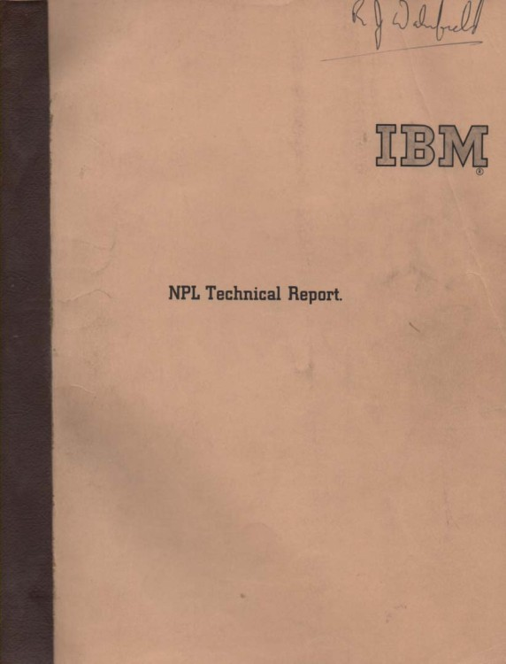Scan of Document: IBM NPL Technical Report