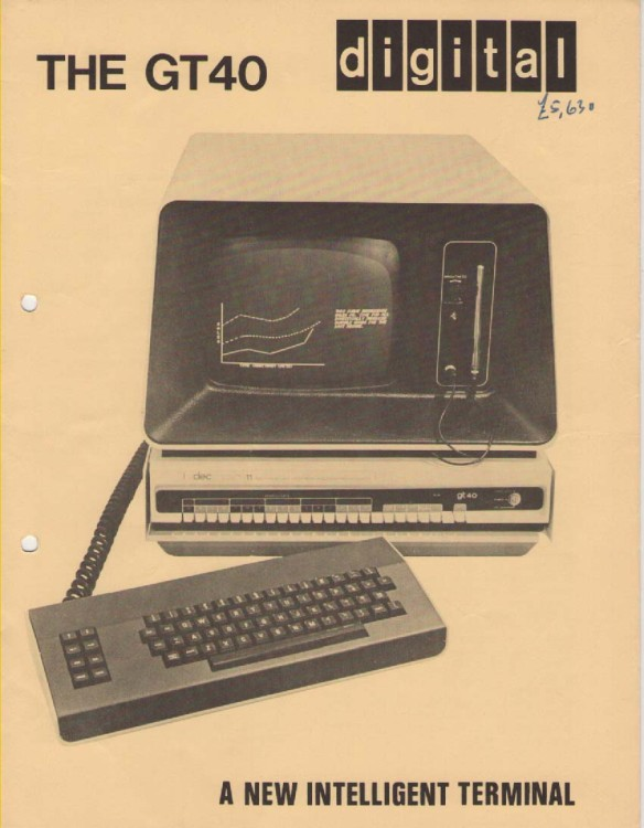 Scan of Document: DEC GT40 Graphic Display Terminal
