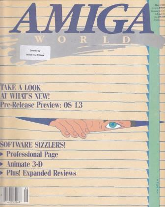 Scan of Document: Amiga World - May 1988