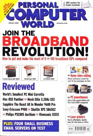 Scan of Document: Personal Computer World - February 2004