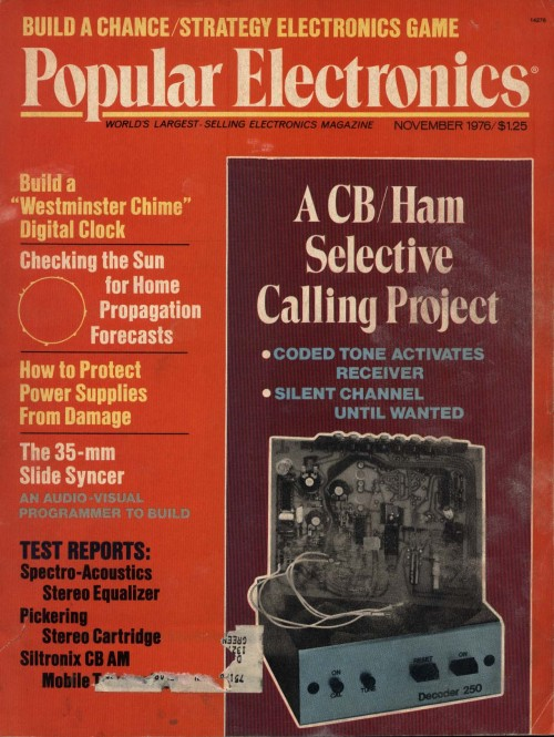 Scan of Document: Popular Electronics - November 1976
