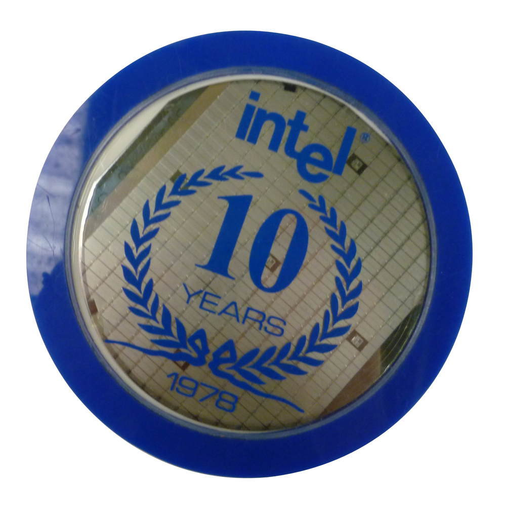 Scan of Document: Intel 10 Year Anniversary Coaster