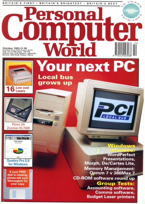 Scan of Document: Personal Computer World - October 1993