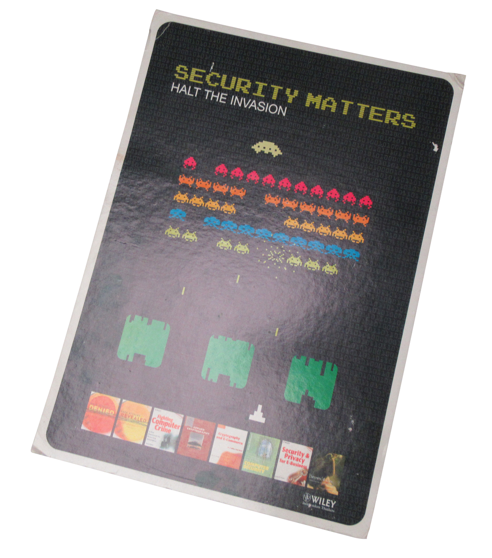 Scan of Document: Wiley Publishing Space Invaders Poster