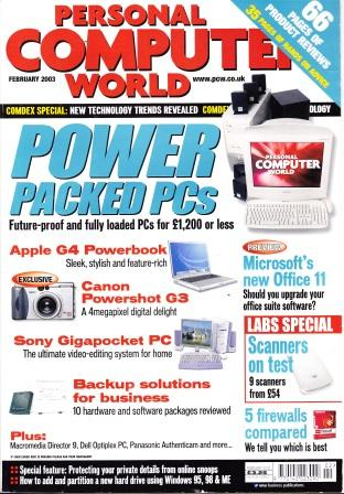 Scan of Document: Personal Computer World - February 2003