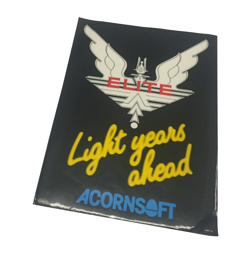 Scan of Document: Acornsoft Elite window sticker