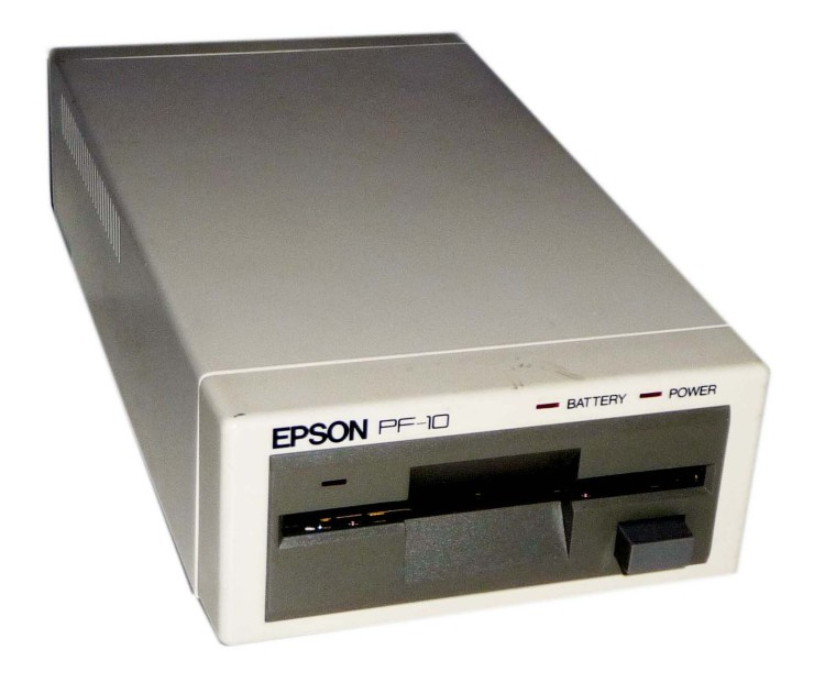 Scan of Document: Epson PF-10 Portable Disk Drive