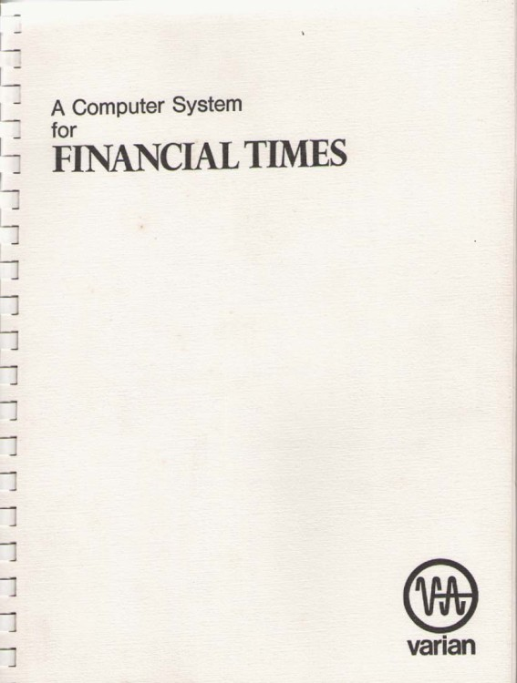 Scan of Document: A Computer System for Financial Times