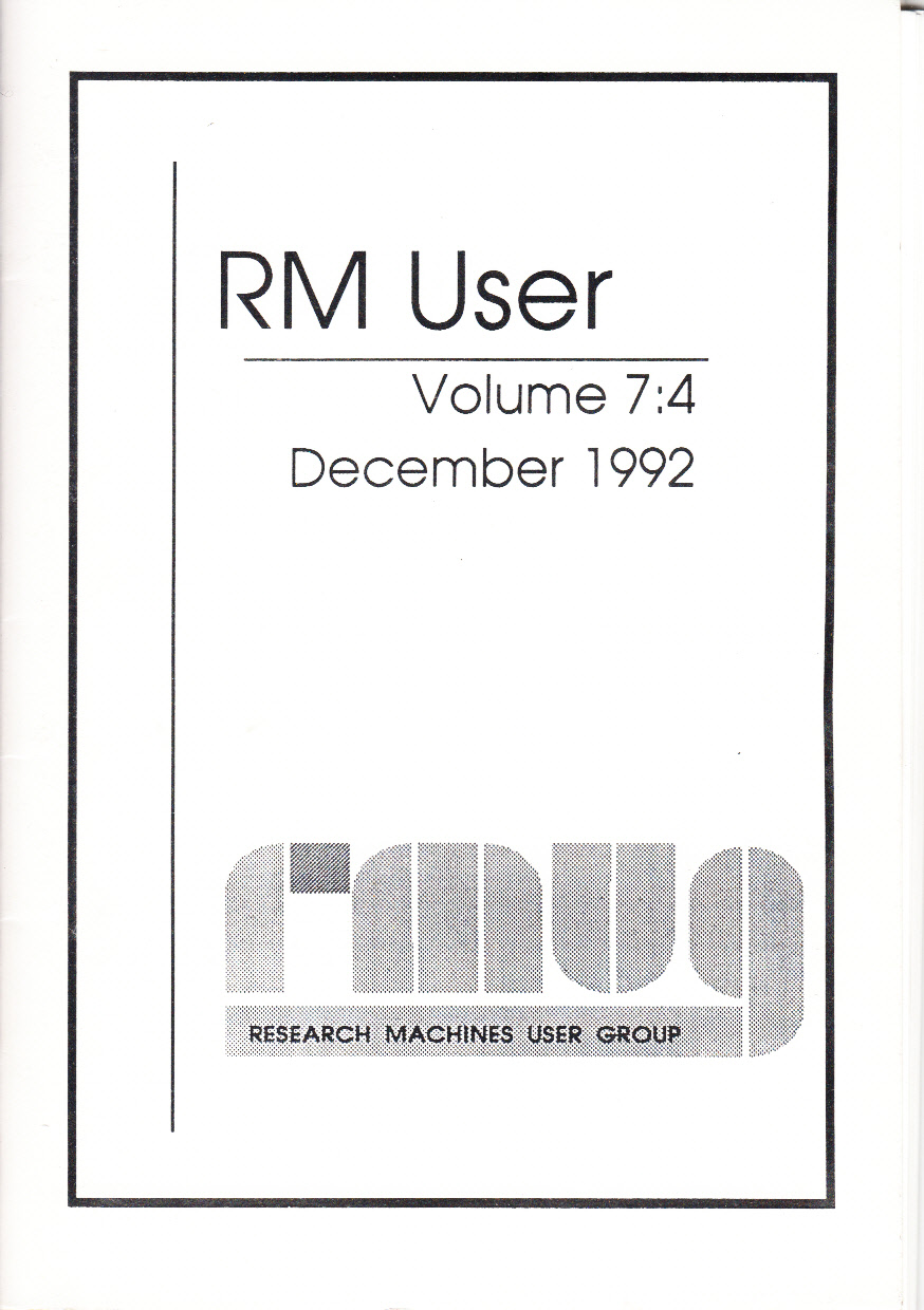 Article: RM User Volume 7:4 - May 1994
