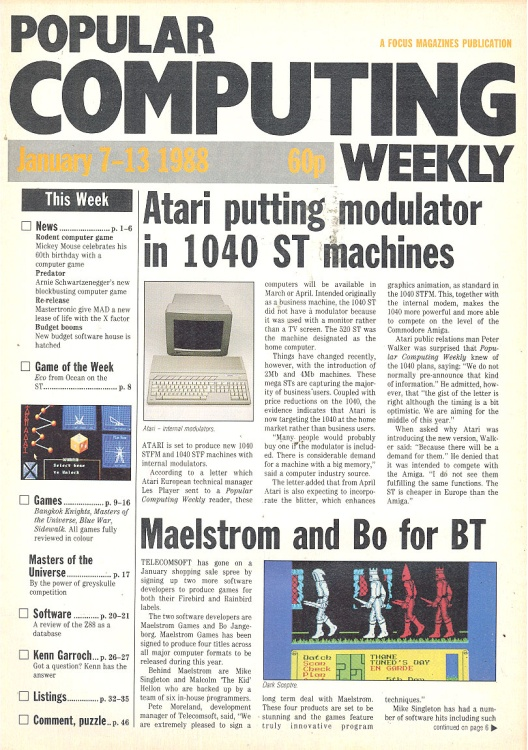 Scan of Document: Popular Computing Weekly - 7-13 January 1988