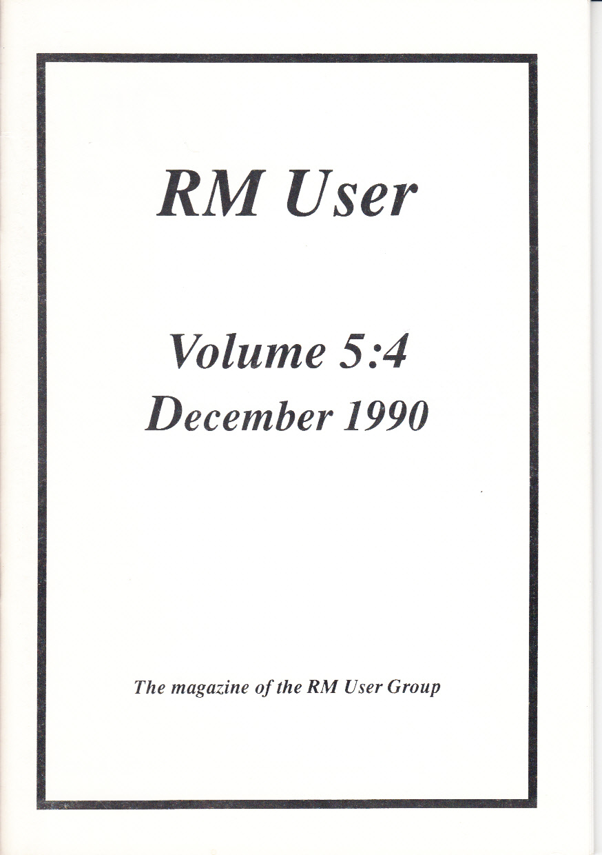 Article: RM User Volume 5:4 - December 1990