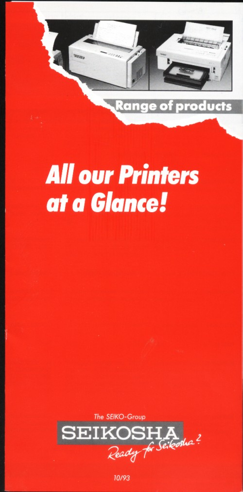 Scan of Document: Seikosha - All Our Printers at a Glance