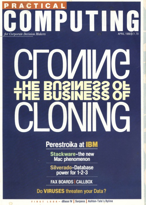 Scan of Document: Practical Computing - April 1988
