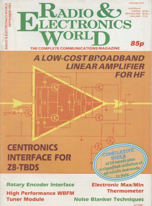 Scan of Document: Radio & Electronics World September 1983