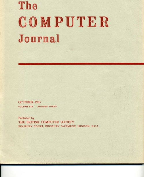 Scan of Document: The Computer Journal October 1963