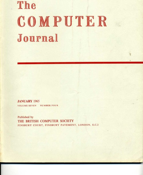 Scan of Document: The Computer Journal January 1965