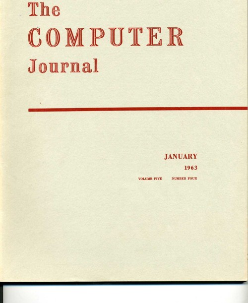 Scan of Document: The Computer Journal January 1963