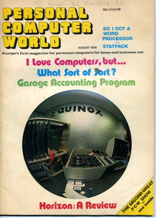 Scan of Document: Personal Computer World - August 1979