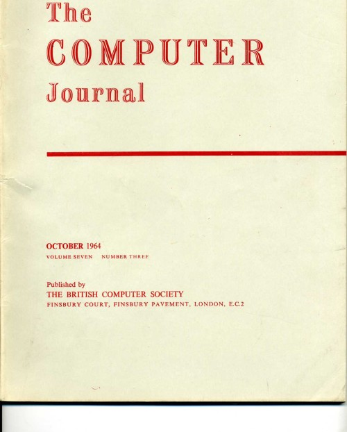 Scan of Document: The Computer Journal October 1964