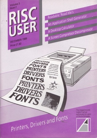 Article: Risc User - Volume 3 Issue 2 - December 1989