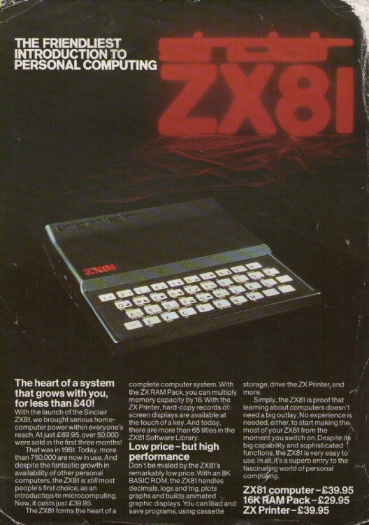 Scan of Document: Sinclair ZX81 Leaflet 2 page