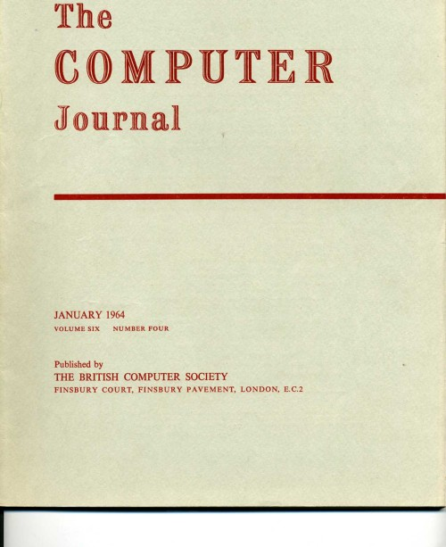 Scan of Document: The Computer Journal January 1964