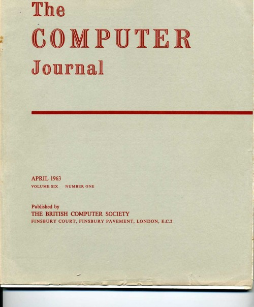 Scan of Document: The Computer Journal April 1963